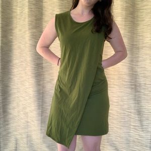 J. Crew Army Green Envelope Hem Dress